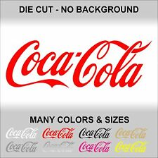 Coca-Cola vinyl decal sticker Logo Car Window Old Machines Vending Soft Drink