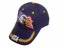 USA Eagle AMERICAN FLAG PATRIOTIC EMBROIDERED BASEBALL CAP HAT / Navy Color