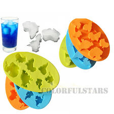 7 Continents Global Warming Silicone Juice Ice Cube Tray Mould Maker Mold fr Bar
