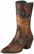 NEW ARIAT 10008778 ROGUE SKIPPY BROWN LEATHER COWBOY BOOT REG. $200