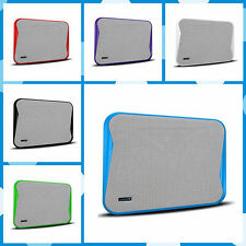 Fashion 2-Fan USB Cooler Cooling Pad Blue LED Light Stand for Laptop Notebook PC