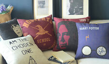 "Cartoon Bop Pillow Case Cushion Cover Square 18"" 45cm Movie Posters Harry Potter"