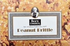 5oz See's Candies Peanut Brittle The Best Kosher Buttery Nutty Goodness