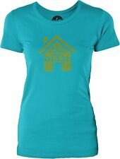 No Place Like Home (Green) Womens Cotton T-Shirt