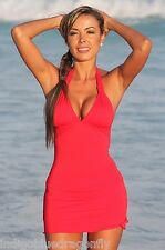 New Sexy Red Show Off Your Curves Swim Dress MADE IN USA Sm-Lg Free USA Shipping