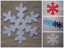x4 FELT LARGE 12.5cm SNOWFLAKES - WHITE die cut Christmas decorations appliqués