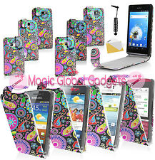 NEW STYLISH JELLYFISH PRINTED LEATHER FLIP POUCH CASE COVER FOR MOBILE PHONES
