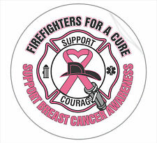 "Firefighter Decal 4""x4"" Firefighters For A Cure Breast Cancer Awareness Decal"