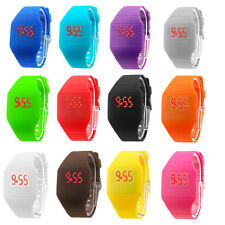 Touch Screen LED Watch Cheap Price Ultra-thin Plastic Candy Color Unisex Watches