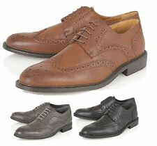 Mens Derby Brogues Formal Shoes Office Casual Party Dress Boys Lace-up Shoe Size