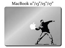 BANKSY MOLOTOV MAN Decal LAPTOP MACBOOK Mac Pro Air Sticker ALL SIZES Apple M47