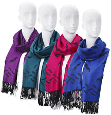 Women's Men's Winter Scarf With Moustache Pattern Uni Color Weaved With Fringes