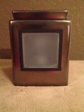 NIB Scentsy Cube Gunmetal Gallery Warmer with your choice of 1 magnetic frame