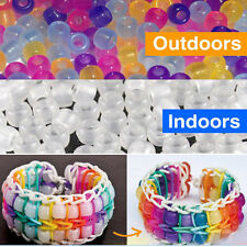 New UV Multi Color Changing Reactive Plastic Pony Beads UV Beads Band Beads