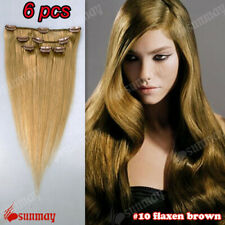 Full Head 100% Real Human Hair Clip in Remy Hair Extensions UK Fast Delivery
