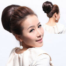 Straight Hepburn Bride Bun Clip In Hair Extensions Scrunchie Bun Cover Hairpiece