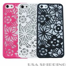 Vintage Flower Pattern Rubber Protector Hard Case Cover For Apple iPhone 5/5S