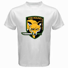 FOX HOUND FOXHOUND Special Force Metal Gear Solid Men's White T-Shirt Size S-3XL