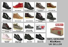 KICKERS 100% GENUINE KICK HI BOOTS & KICK LO SHOES - IN VARIOUS COLORS & SIZES