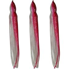 "5.5"" to 8.5"" Octopus Squid Replacement Skirt -Red Shad - 3 Pack"