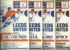 LEEDS UNITED MATCH PROGRAMMES 1969-70 Season Choose From Selection List