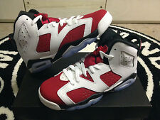 "Nike Air Jordan 6 VI Retro ""Carmine"" OG Sz 7y GS Kids Boys Red White Purple PS"