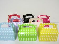 12x Polkadot  Lolly Candy BOXES Party Favours Loot Lolly Party Bag  Candy Buffet