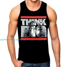 New Men's BIGGIE THINK BIG Black Tank Top dope rave Rapper Weed Hip Hop B.I.G.