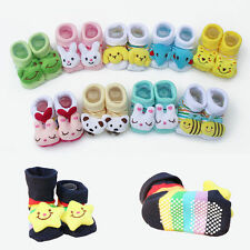 Cute Anti-slip Warm Socks Animal Shoes Boots For 0-6 Months Newborn Girl & Boy