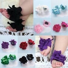 Cute Toddler Baby Girl Barefoot Flower Sock Sandals Shoes Toe Blooms for 0-12M