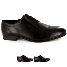 Mens H By Hudson Sheldon Smooth Leather Lace Up Formal Derby Shoes All Sizes