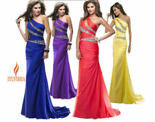 Long Chiffon Evening Gown Bridesmaid Dresses Prom Dress Formal Party Ball Gowns