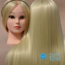 """26"""" S ~ Ash Blonde Hair Syn Salon Cosmetology Real Training Human Head Mannequin"""