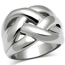 Women's Stainless Steel Modern Intertwined Fashion Ring Size 5 -10