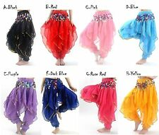 Belly dance Tribal Gold Wavy Harem Pants Skirt 8 Colors