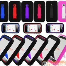 Dual Layer Hybrid ARMOR Case Cover Stand For T-Mobile Huawei Prism 2 II U8686
