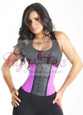 Waist Cincher Corset Waist Trainer Girdle Shaperwear Latex Faja Workout Gym Purp