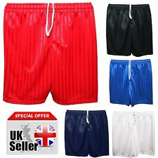 NEW BOYS GIRLS KIDS SCHOOL SHADOW STRIPE CHILDREN ADULT SPORTS GYM  PE SHORTS