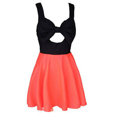 European And American Big Size Women Summer Free shiping Hollow Chest Bow Dress