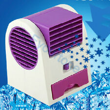 USB/Battery Aromatherapy Fan air Conditioner Mini Bladeless Fan