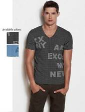 New AX Armani Exchange Mens Slim Muscle Fit Modern Grid Tee Shirt c6x426