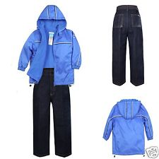 2pc Baby Infant Toddler Kids Boys Blue Jacket Coat + Cotton Jeans 1-6 Years old