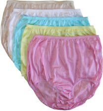 Teri's Soft Nylon Panty Brief - 6 Pair - Small to 6X - Colors