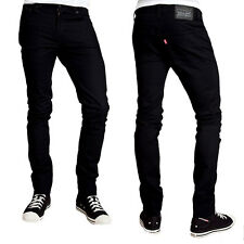 Levis 511 Mens Skinny Denim Jeans - Skinny Leg Slim fit - Black