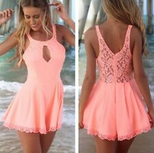 Women Celeb Lace Playsuit Party Evening Summer Beach Dress Jumpsuits Shorts Club