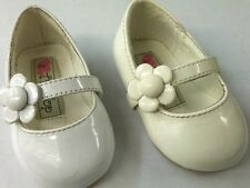 NEW S45 Tip Top Kids Girl WEDDING PAGEANT Faux Patent Leather Daisy Flower shoes