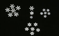 50/100/200 Premium Quality Bright Silver Snowflake Spacer Beads 8mm OR 6mm