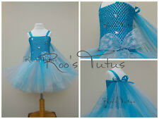 Handmade Disney Frozen Elsa inspired Tutu Dress (short) Party, princess dress up