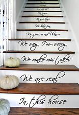 In this House Home Words Text Quote Wall Sticker Vinyl Stairs Art Decor Decal