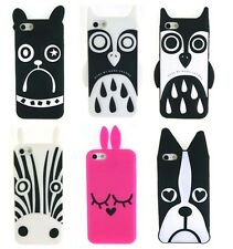 For Apple iPhone 5 5S Marc Jacobs Fashion Silicon Zebra Owl Dog Case Cover FF